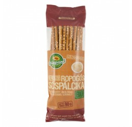 BIOPONT Organic Snacks XL Extra Long Crispy Salty Sticks from Spelt & Sesame Seeds 90g
