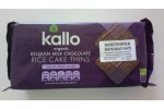 KALLO BELGIAN MILK CHOCOLATE RICE CAKES THINS 90G BIO
