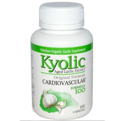 Kyolic Aged Garlic Extract Odorless Cardiovascular Formula 100 Capsules
